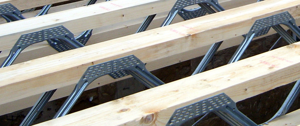 Metal web joists for timber frame buildings from flight for Open web floor joists